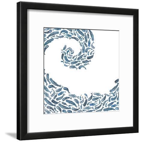Whale Wave-Elena O'Neill-Framed Art Print