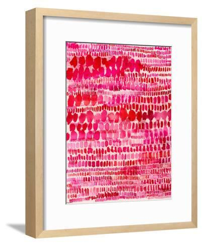 Pink And Red Water Colour Patterns-Paula Mills-Framed Art Print