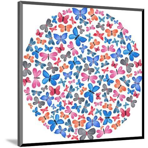 Butterfly Circle-Elena O'Neill-Mounted Art Print