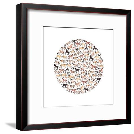 Horse Circle-Elena O'Neill-Framed Art Print