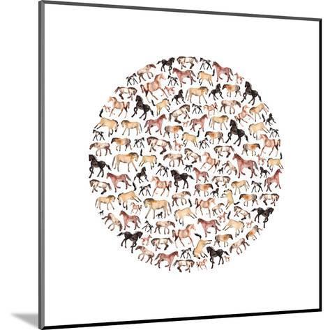 Horse Circle-Elena O'Neill-Mounted Art Print