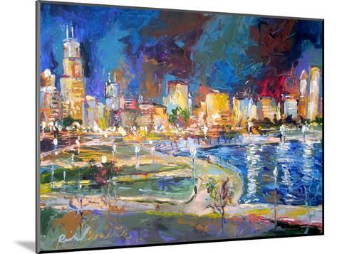 Chicago Lights-Richard Wallich-Mounted Art Print