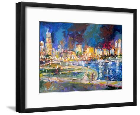 Chicago Lights-Richard Wallich-Framed Art Print