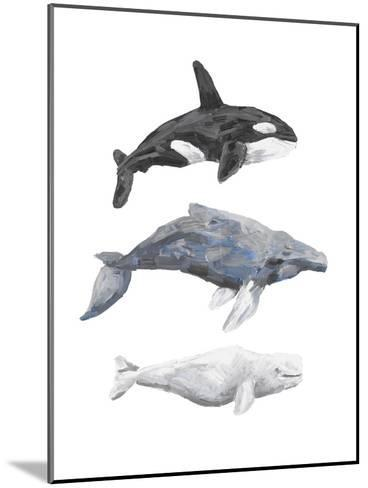 Whale Painting Trio 1-Jetty Printables-Mounted Art Print