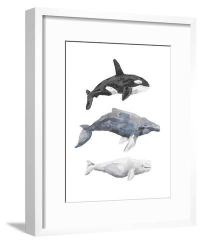 Whale Painting Trio 1-Jetty Printables-Framed Art Print