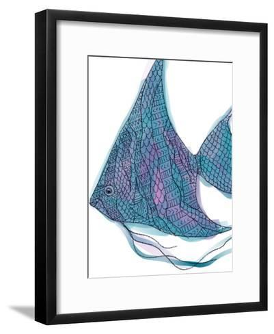 Tribal Boho Angel Fish Print-Jetty Printables-Framed Art Print