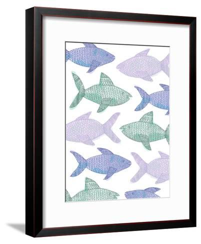 Tribal Fish Pattern Pastel-Jetty Printables-Framed Art Print