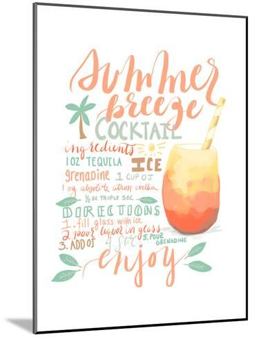 Summer Breeze Cocktail Recipe-Jetty Printables-Mounted Art Print