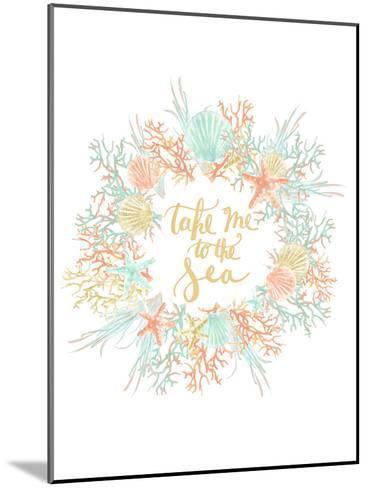 Take Me To The Sea Coastal Print-Jetty Printables-Mounted Art Print