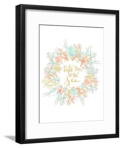 Take Me To The Sea Coastal Print-Jetty Printables-Framed Art Print