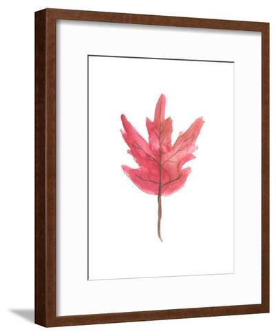 Watercolor Autumn Leaf-Jetty Printables-Framed Art Print