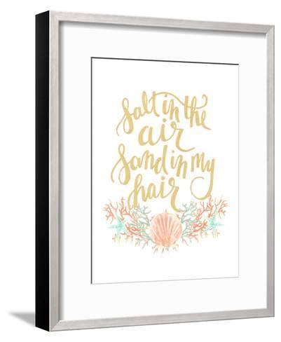 Salt In The Air Sand In My Hair Typography-Jetty Printables-Framed Art Print