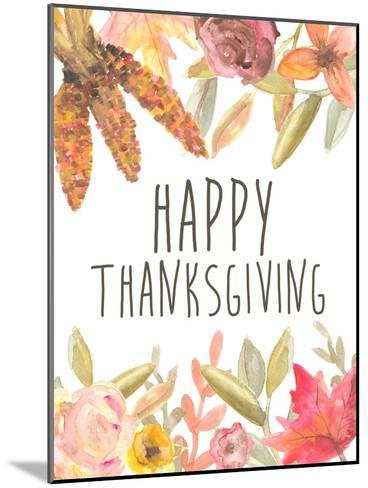 Happy Thanksgiving Festive-Jetty Printables-Mounted Art Print