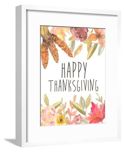 Happy Thanksgiving Festive-Jetty Printables-Framed Art Print