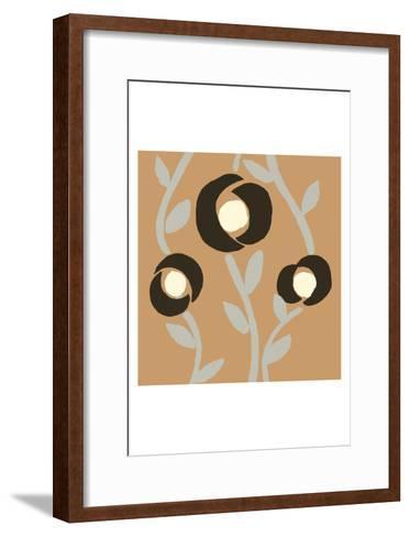 Fiori Apricot-Denise Duplock-Framed Art Print