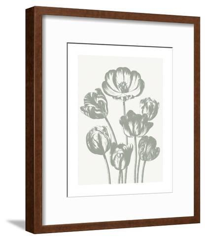 Tulips (Ivory & Sage)-Botanical Series-Framed Art Print