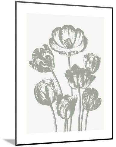 Tulips (Ivory & Sage)-Botanical Series-Mounted Art Print