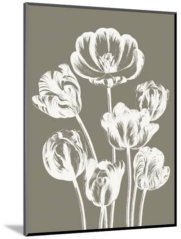Tulips (Burlap & Ivory)-Botanical Series-Mounted Art Print
