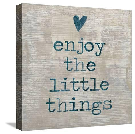 Enjoy the little things-Jamie MacDowell-Stretched Canvas Print