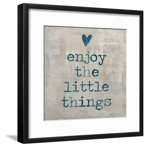 Enjoy the little things-Jamie MacDowell-Framed Art Print