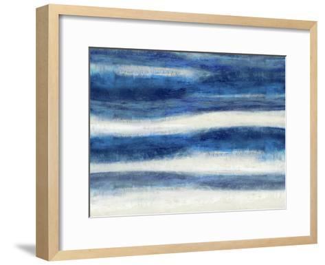 Emerge in Indigo-Jaden Blake-Framed Art Print