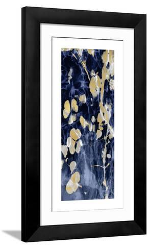 Indigo Nature with Gold II-Danielle Carson-Framed Art Print