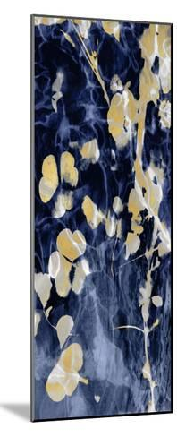 Indigo Nature with Gold II-Danielle Carson-Mounted Giclee Print