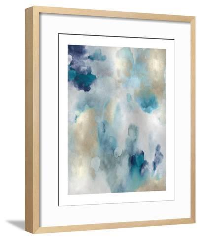 Whipser in Aqua V-Lauren Mitchell-Framed Art Print