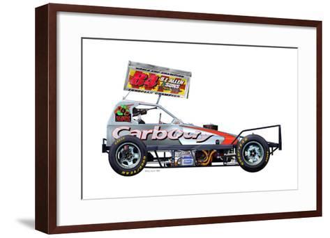 Tom Harris 84 Silver-Roy Scorer-Framed Art Print
