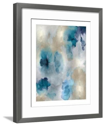 Whisper in Aqua II-Lauren Mitchell-Framed Art Print