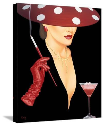 Spotted Hat Lady I-Gerard Kelly-Stretched Canvas Print