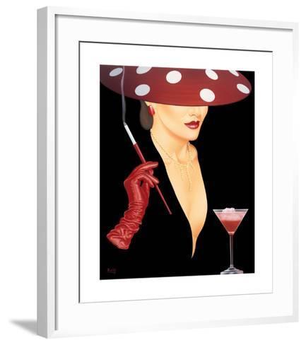 Spotted Hat Lady I-Gerard Kelly-Framed Art Print