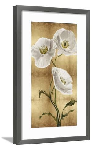 Towering Blooms - Panel III-Tania Bello-Framed Art Print