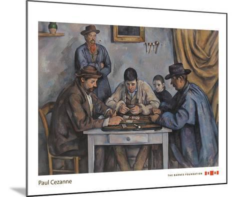 The Card Players, 1890-1892-Paul Cezanne-Mounted Art Print