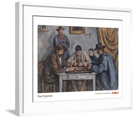 The Card Players, 1890-1892-Paul Cezanne-Framed Art Print