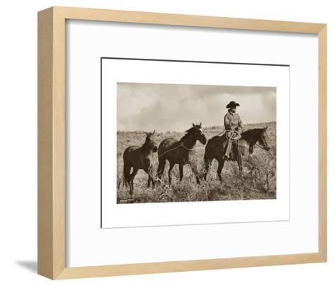 Every Journey For A Cowboy Starts With Four Steps-Barry Hart-Framed Art Print