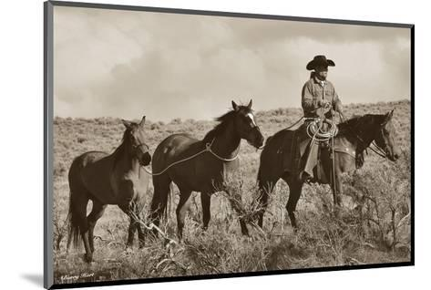 Every Journey For A Cowboy Starts With Four Steps-Barry Hart-Mounted Art Print