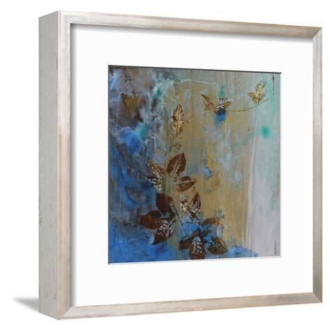 Jewelled Leaves XVII-Hollack-Framed Art Print