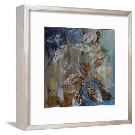 Jewelled Leaves XII-Hollack-Framed Art Print