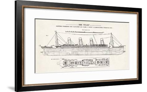RMS Titanic-The Vintage Collection-Framed Art Print