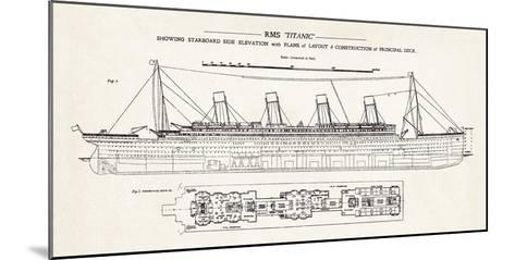 RMS Titanic-The Vintage Collection-Mounted Giclee Print