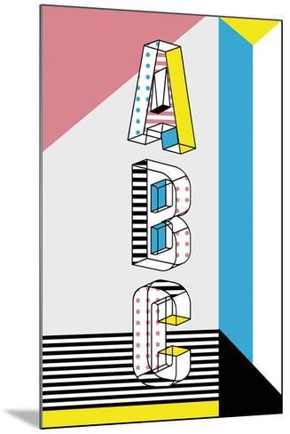 ABC Graphics-Myriam Tebbakha-Mounted Giclee Print