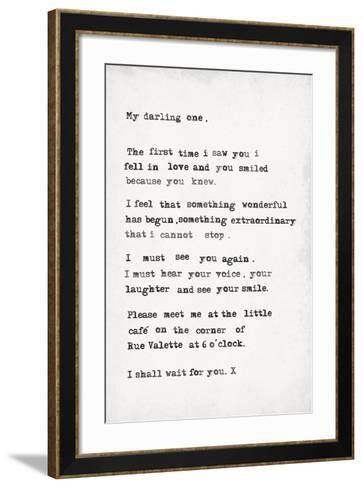 My Darling One-The Vintage Collection-Framed Art Print