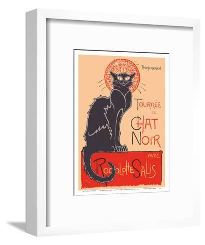The Black Cat Cabaret Tour (Tourn?du Chat Noir) - with Rodolphe Salis-Th?hile Alexandre Steinlen-Framed Art Print