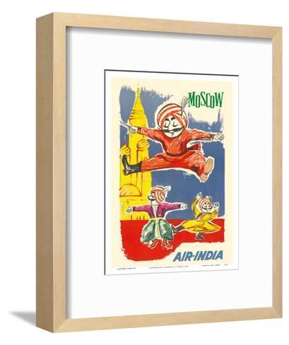 Moscow Russia - Air India Mascot Maharaja - Barynya Russian Folk Dance-J^B^ Cowasji-Framed Art Print