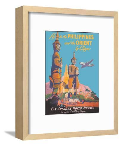 Fly to the Philippines - and the Orient by Clipper - Pan American World Airways-Mark Von Arenburg-Framed Art Print