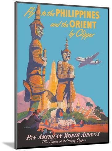 Fly to the Philippines - and the Orient by Clipper - Pan American World Airways-Mark Von Arenburg-Mounted Art Print
