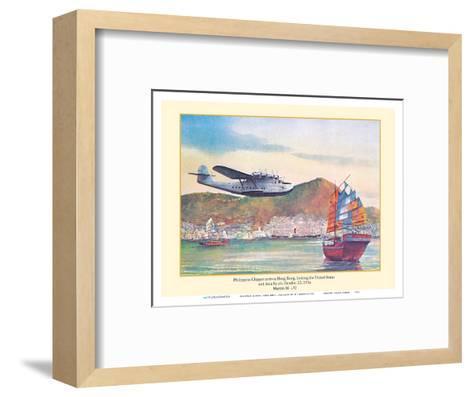 Philippine Clipper Arrives Hong Kong Oct. 1936 - Pan American Airways - Martin M-130-John T^ McCoy-Framed Art Print