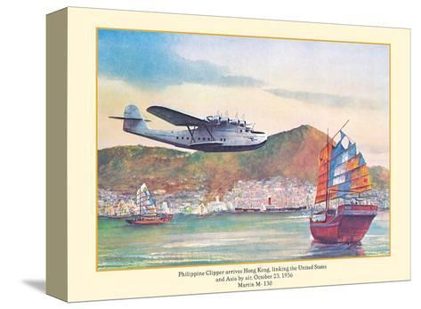 Philippine Clipper Arrives Hong Kong Oct. 1936 - Pan American Airways - Martin M-130-John T^ McCoy-Stretched Canvas Print