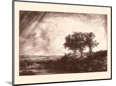 The Three Trees-Rembrandt van Rijn-Mounted Art Print